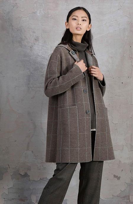 Tonet Reversible Grid Knit Coat