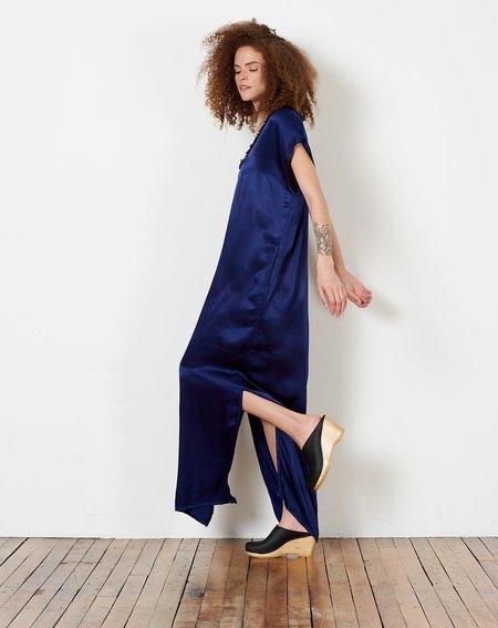 Raquel Allegra Trapunto Caftan Dress - Ink