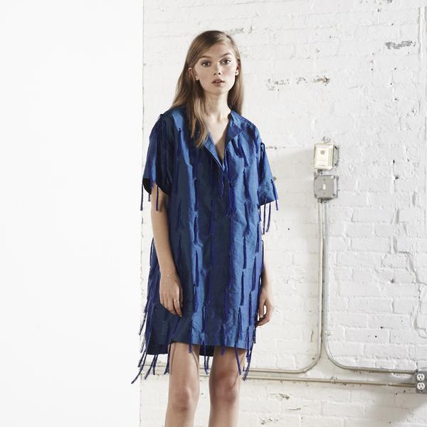 Nikki Chasin Tate Tassel Dress - Royal