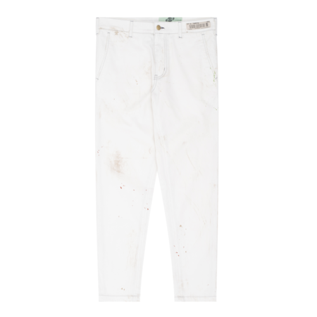 Darryl Brown Clothing Company Paint Trouser - White