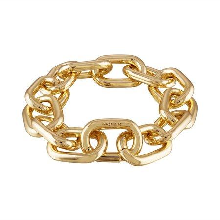 Machete Linked statement bracelet - 14k gold