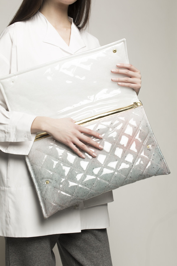 Maryme-Jimmypaul Quilted PVC Envelope Purse in Multi