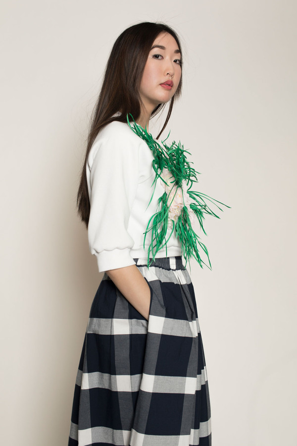 Maryme-Jimmypaul Spring Herb and Flower Crop Sweater in Multi