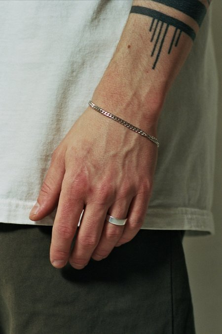 The Silver Stone Cuban Bracelet - Sterling Silver