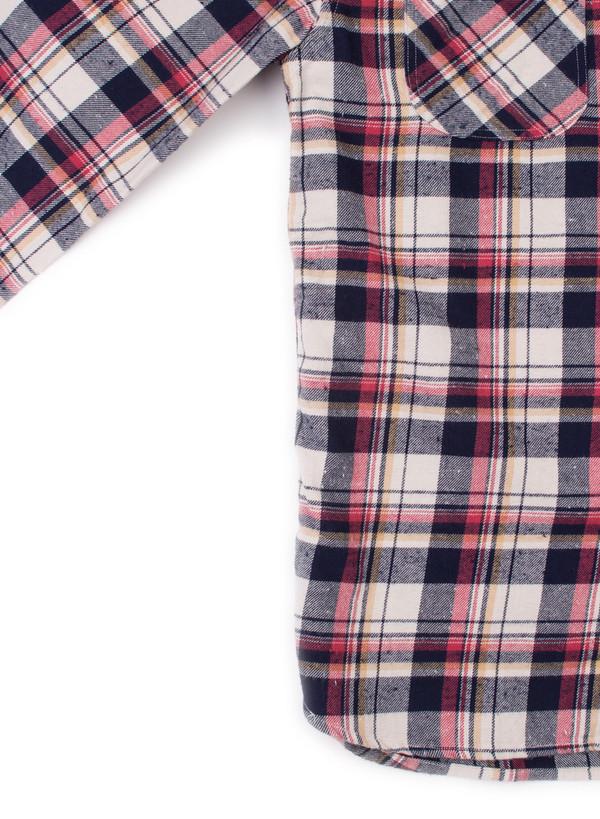 Men's  Alex Mill Spring Flannel Shirt Navy/White/Red