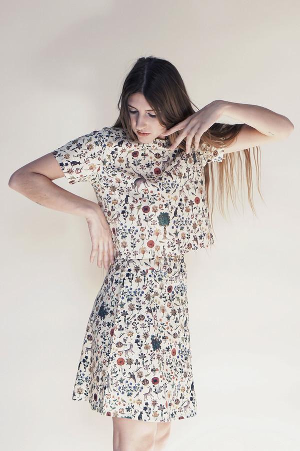 Samantha Pleet Half Moon Skirt - Illuminated print