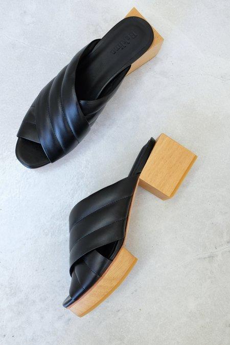 Beklina Matisse Criss-cross Platform Slide - Black