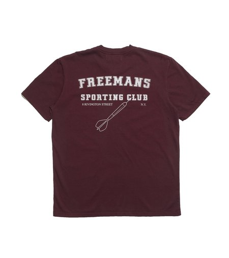 Freemans Sporting Club Printed T-Shirt - Bowery Burgundy
