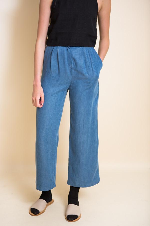 First Rite Wide Trouser / Denim