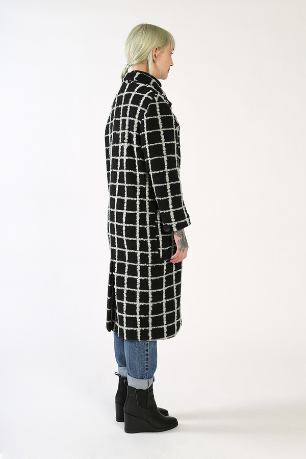 Kurt Lyle VERONICA Double Breasted Coat - GRID