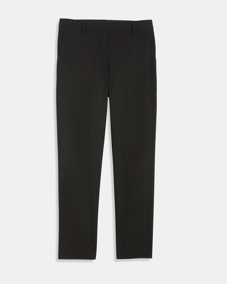Theory Crop Pant double stretch - Black