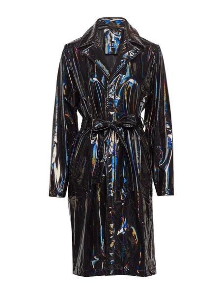 Unisex Rains Holographic Overcoat - Black