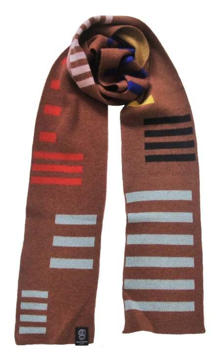 Unisex Giannina Capitani Stripe scarf