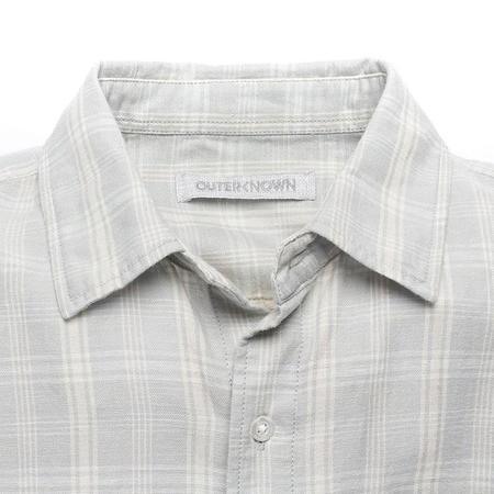 Outerknown Highline Shirt - Vapor Blue Shady Plaid