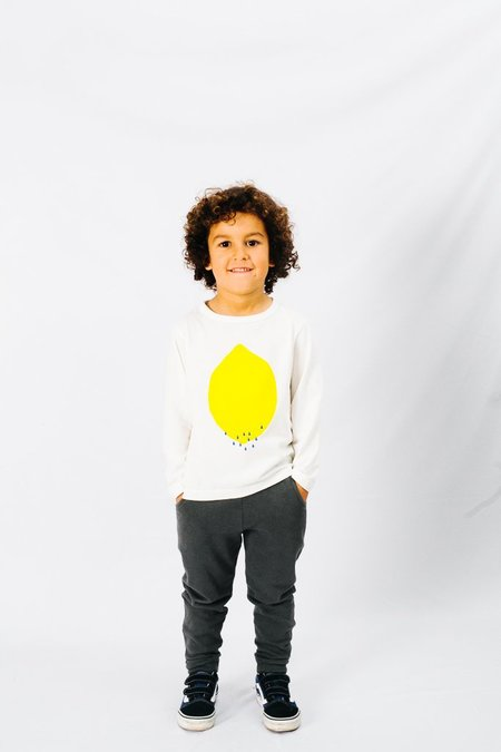 Kids Picnik Sweater - Lemon
