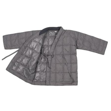 kids Tambere Quilted Down Coat With Kimono Close - Khaki Grey