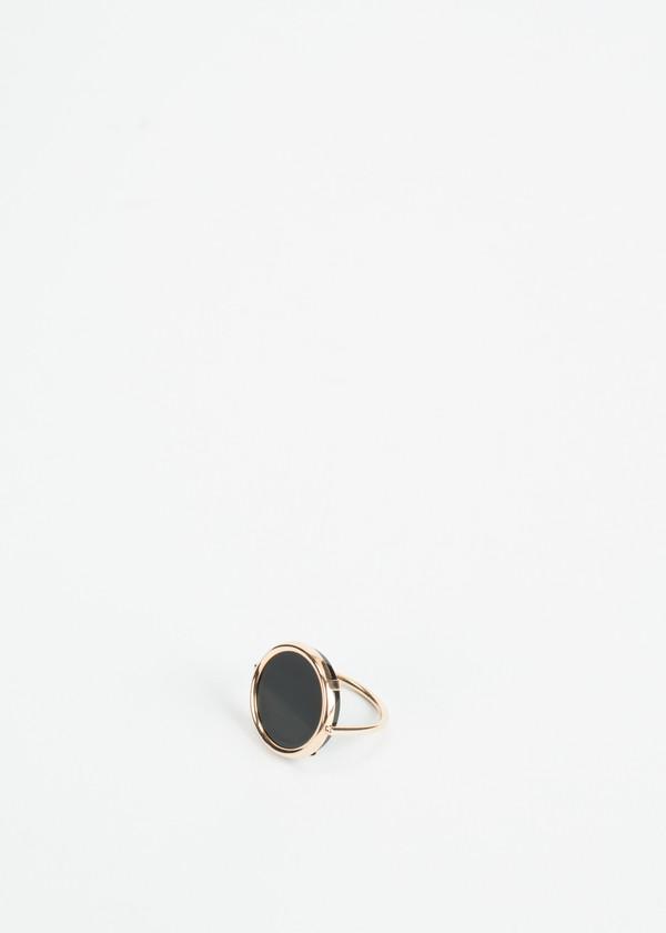 Ginette NY Black Onyx Disc Ring