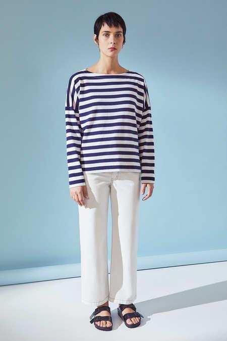 Kowtow Breton Sweater in Wide Stripe