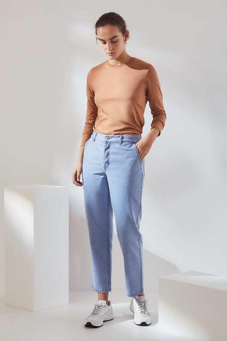 Kowtow Core Jean in Pale Blue Denim