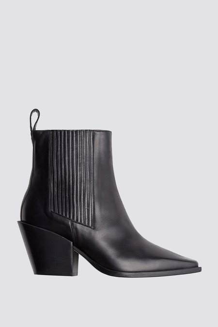 Aeyde Kate Calf Leather Boot - black