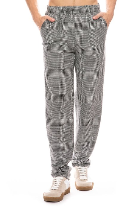 Native Youth Cadley Houndstooth Pant - Black
