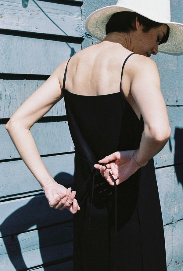 Shaina Mote Apron Dress - ink