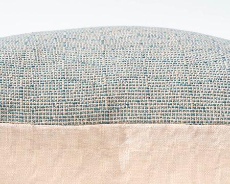 SSEN Handwoven Geo V Pillow Cover - Teal/Peach