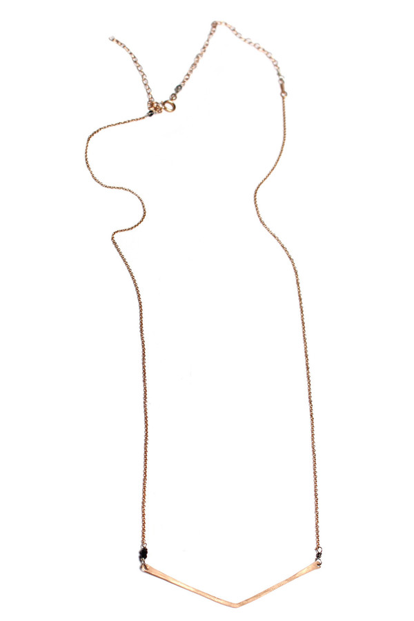 Sarah Dunn Rose Gold V Necklace