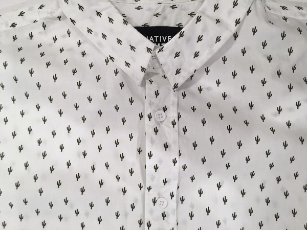 Men's Native Youth Cacti Print Shirt