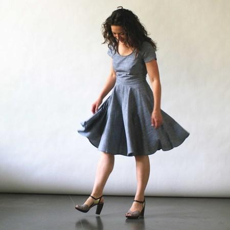 Nooworks Loretta Dress in Chambray