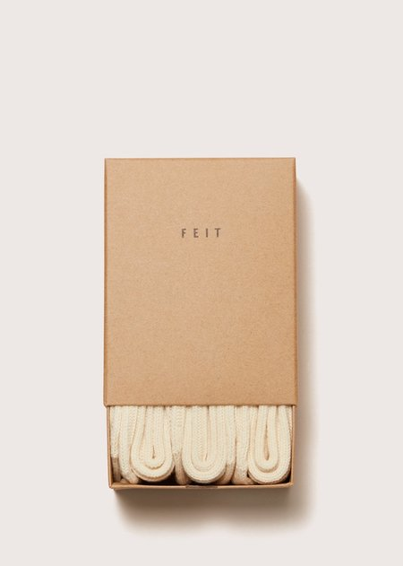 FEIT 3 Pack Cotton Short Socks - NATURAL