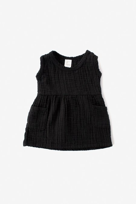 Kids North Of West Double Cloth Tank Dress - Black