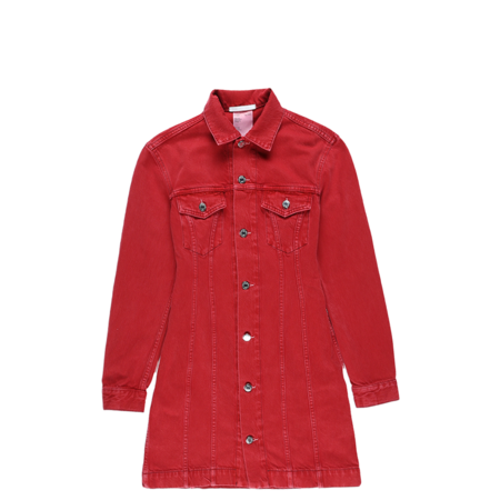 Helmut Lang Femme Trucker Dress - Red Stone