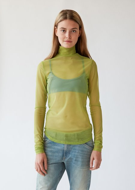 Nomia Long Sleeve Mesh Mockneck - Kiwi