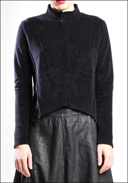 Lurdes Bergada Velour Jersey Fitted Jacket - Black