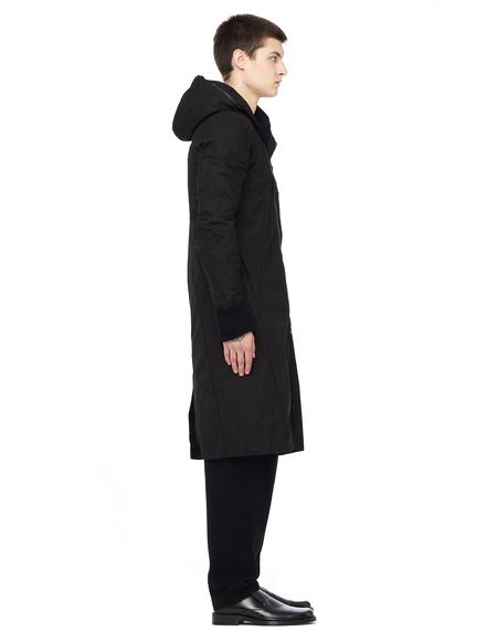 Leon Emanuel Blanck Deconstructed cotton zip coat - black