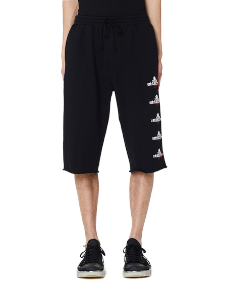 JohnUNDERCOVER Printed Cotton Shorts - Black