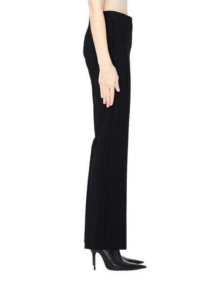 The Row Avery Straight Leg Wool Pants - Black