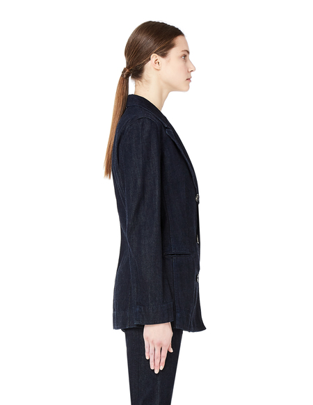 The Row Double Breasted Denim Jacket - Navy Blue