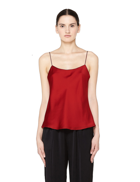 The Row Biggins Silk Camisole Top - Red