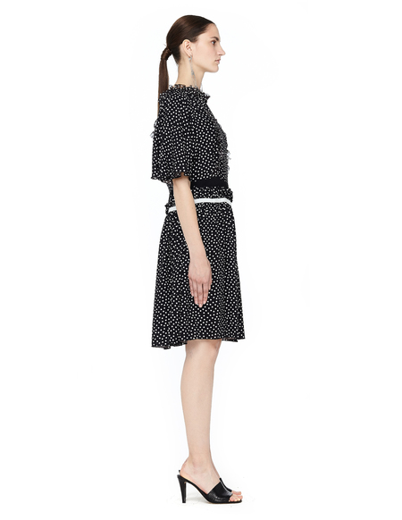Undercover Polka Dot Dress with Ruffles