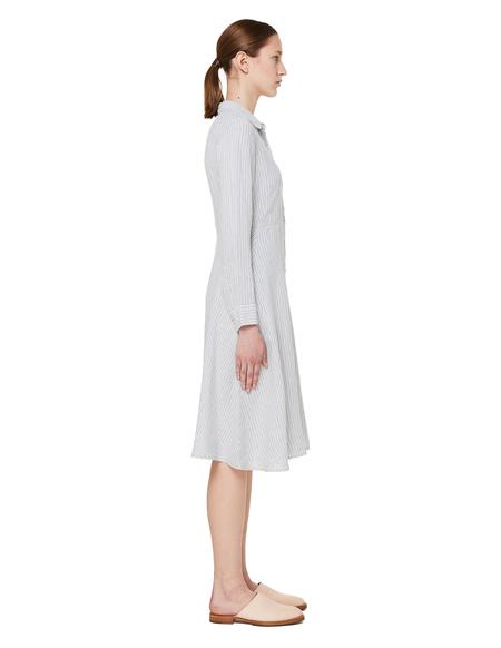 120% Lino Linen Dress - Grey Stripe