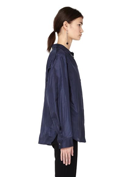 The Row Silk Shirt - Blue