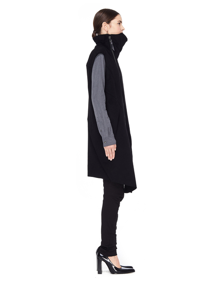 Leon Emanuel Blanck Zip-up Wool Mix Vest - black