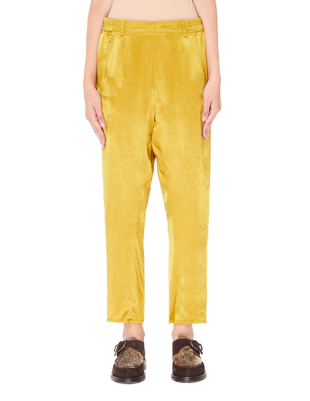 Ann Demeulemeester Golden Cropped Trousers