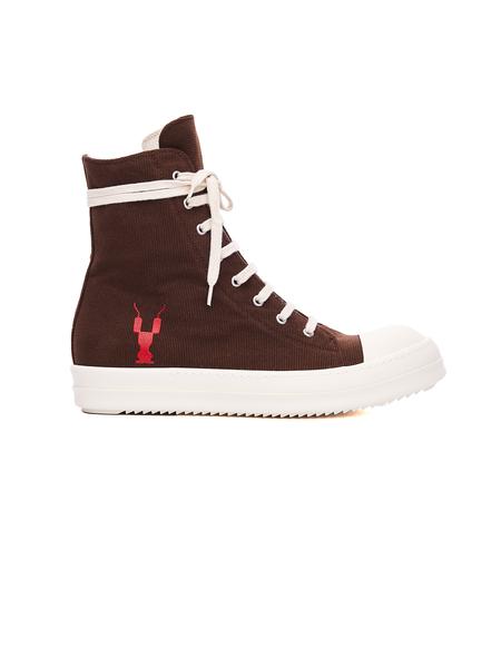 Rick Owens DRKSHDW Textile Hi-Top Sneakers - Brown