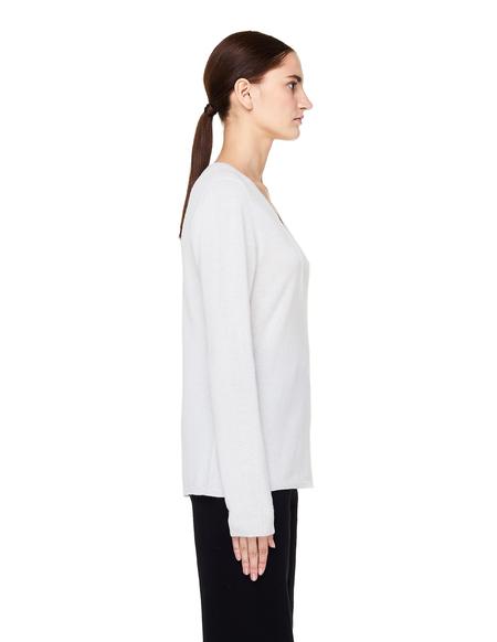 James Perse White Cashmere V-Neck Sweater