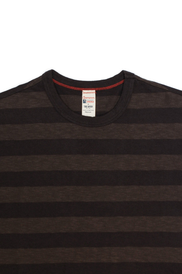 Todd Snyder x Champion Tonal Stripe Crew Black
