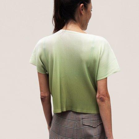 Issey Miyake Aurora Mist Boxy Tee - Green Ombre