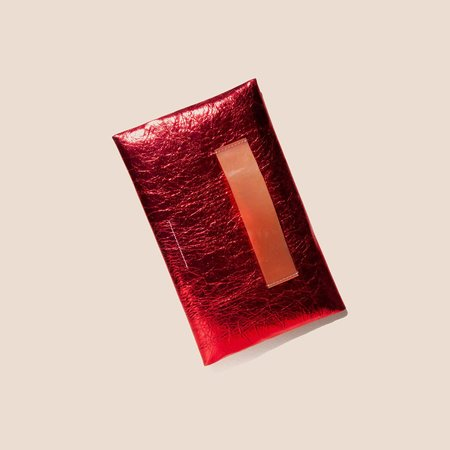 MM6 Small Zip Pouch - Pompeian Red